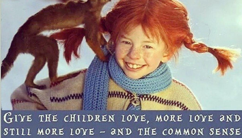 """""""Ge barnen kärlek, mera kärlek och ännu mera kärlek, så kommer folkvettet av sig själv."""" Söndagar är för Pippi & Walt Disney filmer 📽🍿och mys med era små! 👶"""